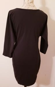 Catherine Malandrino Dresses - NWOT Catherine Black Front Tie Dress sXL